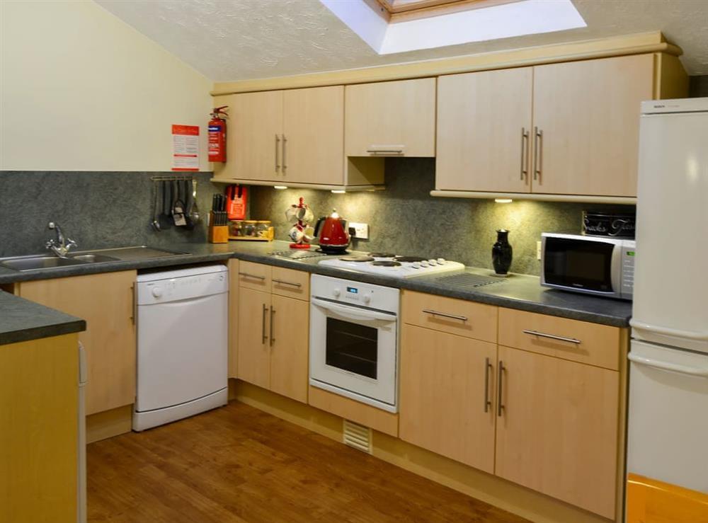 Kitchen area at Wanderer in Sutton Staithe, near Stalham, Norfolk