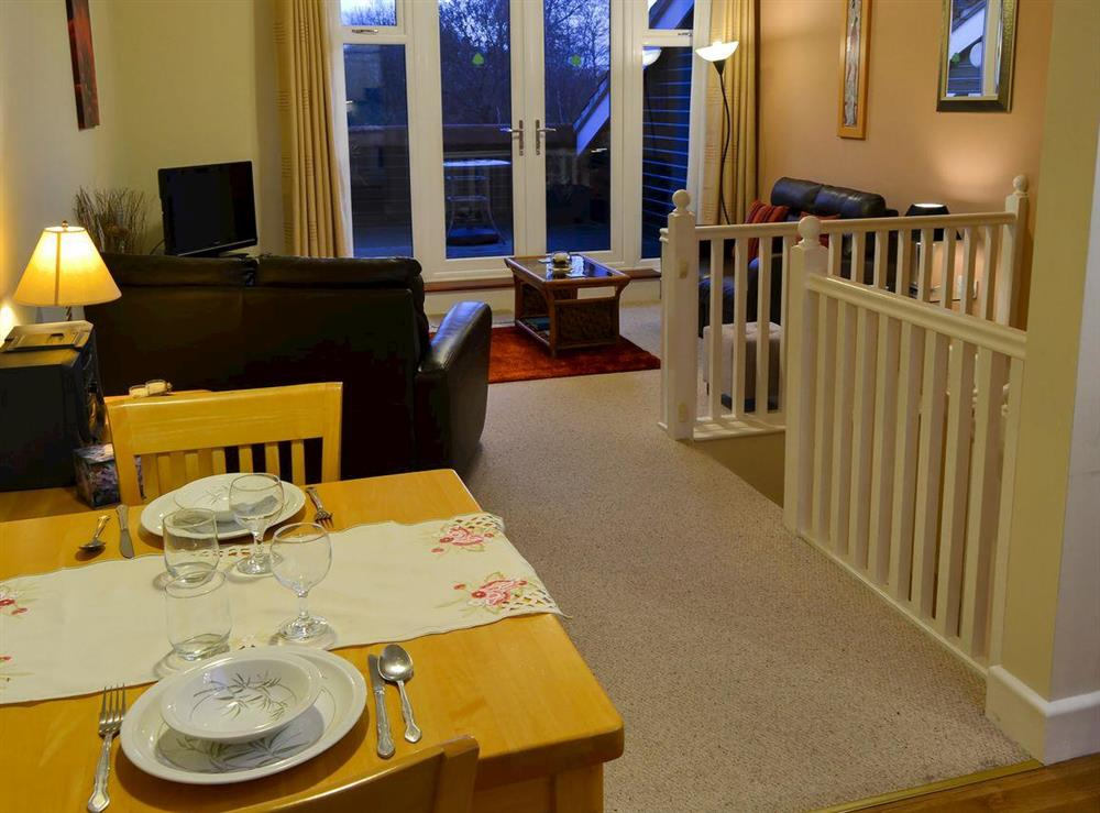 Living and dining area at Wanderer in Sutton Staithe, near Stalham, Norfolk
