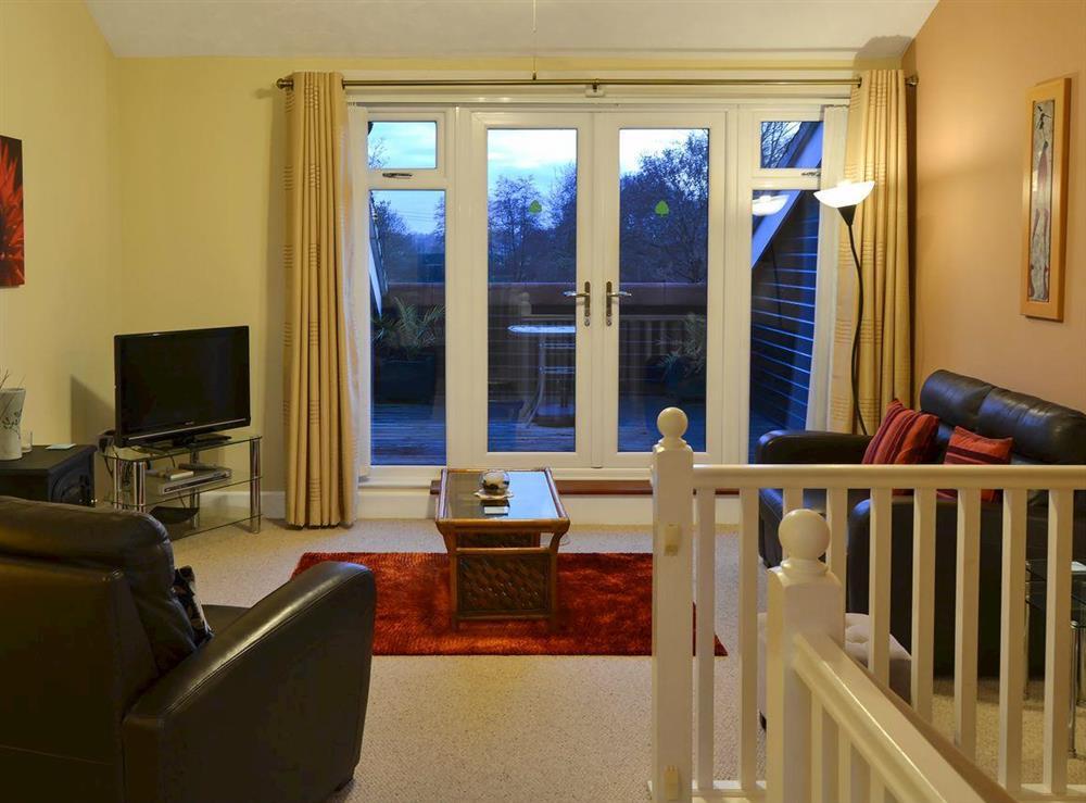 Living area at Wanderer in Sutton Staithe, near Stalham, Norfolk