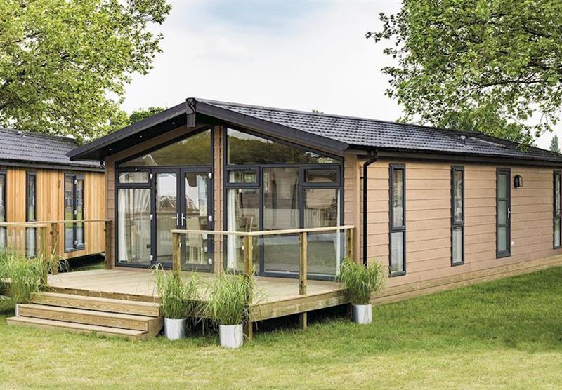 One of the lodges at Wareham Forest Lodge Retreat in Holton Heath, Dorset