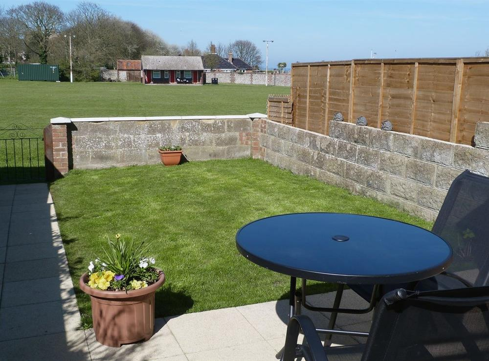 Garden at Watchkeepers Cottage in Mundesley, Norfolk