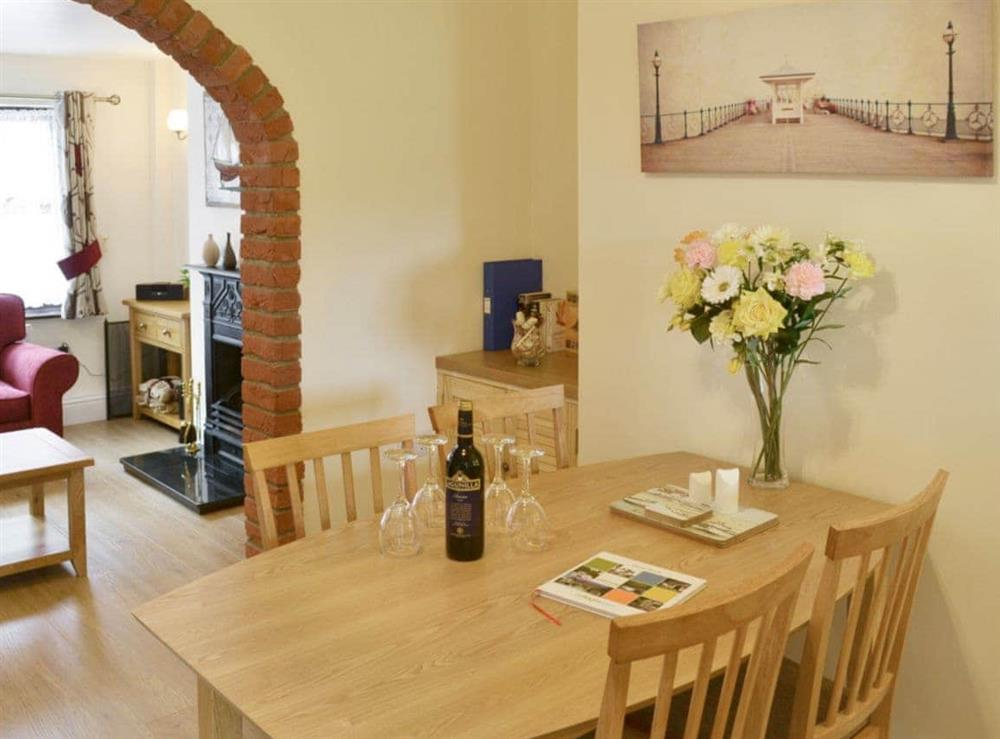 Living room/dining room at Watchkeepers Cottage in Mundesley, Norfolk
