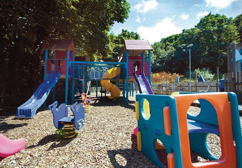 Children's play area at Watermouth Lodges in North Devon, South West of England