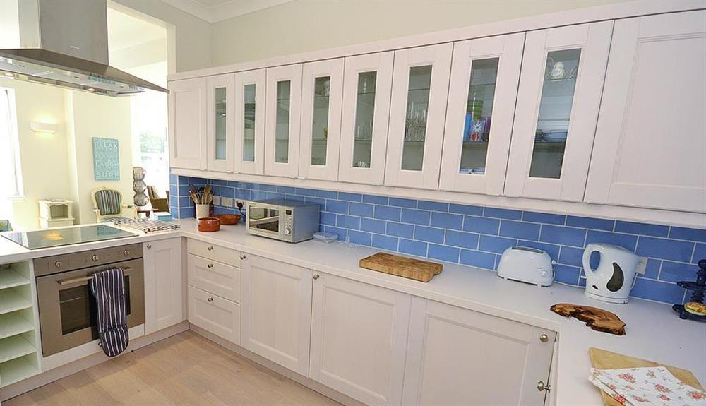 Another view of the kitchen at Waters Edge, Stoke Gabriel
