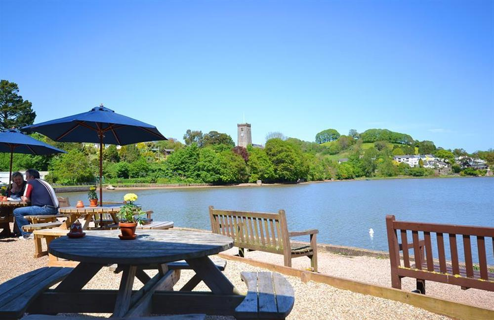 Enjoy a snack or drink by the water at Waters Edge, Stoke Gabriel