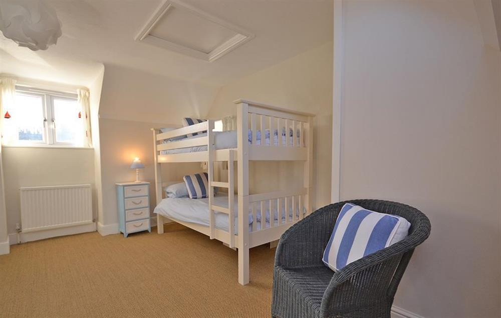 The bunk room at Waters Edge, Stoke Gabriel