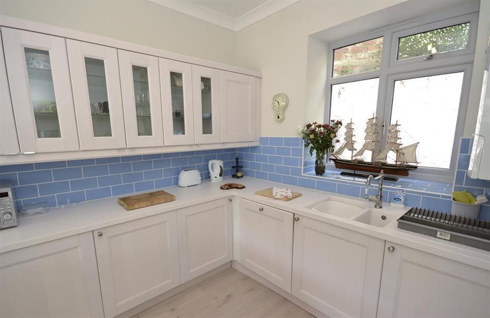 The modern, well equipped kitchen at Waters Edge, Stoke Gabriel