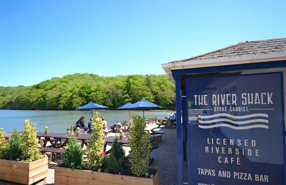 The River Shack cafe serving tasty snacks and drinks at Waters Edge, Stoke Gabriel