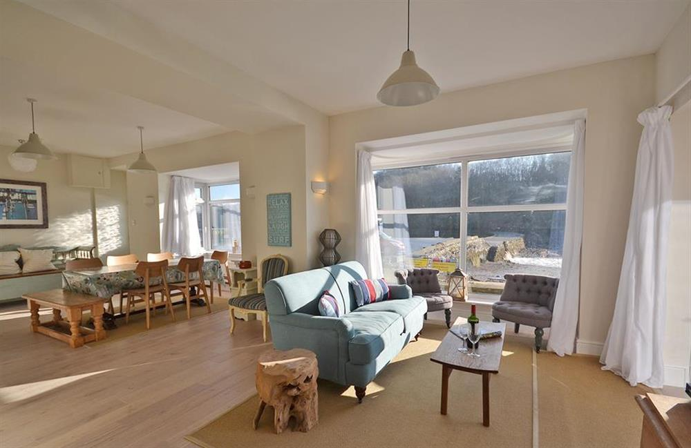 The superb open plan living area at Waters Edge, Stoke Gabriel