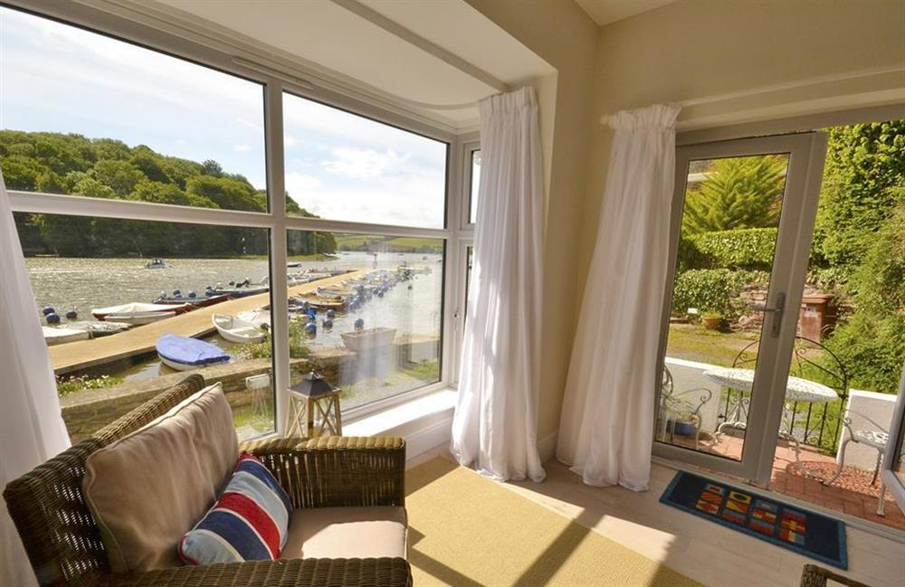 Watch the activity on the water from the comfort of your chair at Waters Edge, Stoke Gabriel