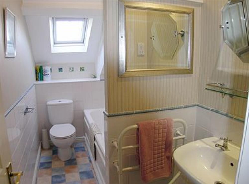 Bathroom at Waterwheel in Bow Creek, Nr Totnes, South Devon., Great Britain