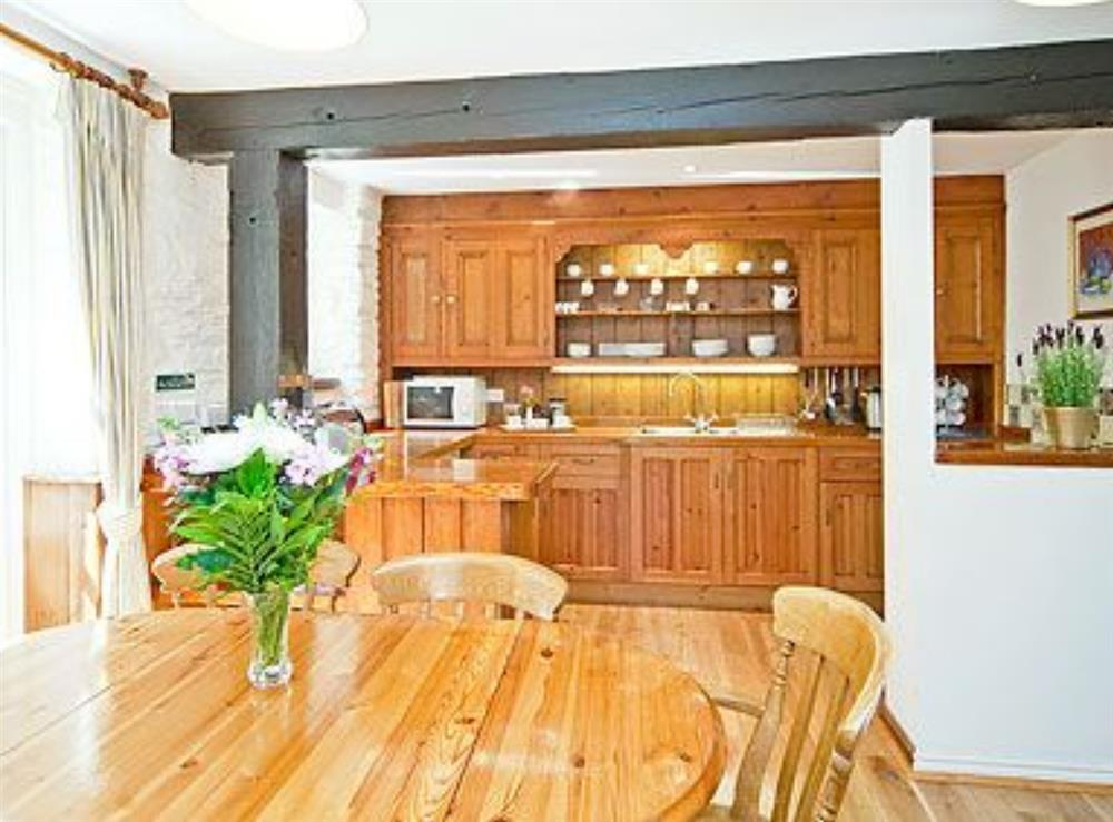 Kitchen/diner at Waterwheel in Bow Creek, Nr Totnes, South Devon., Great Britain