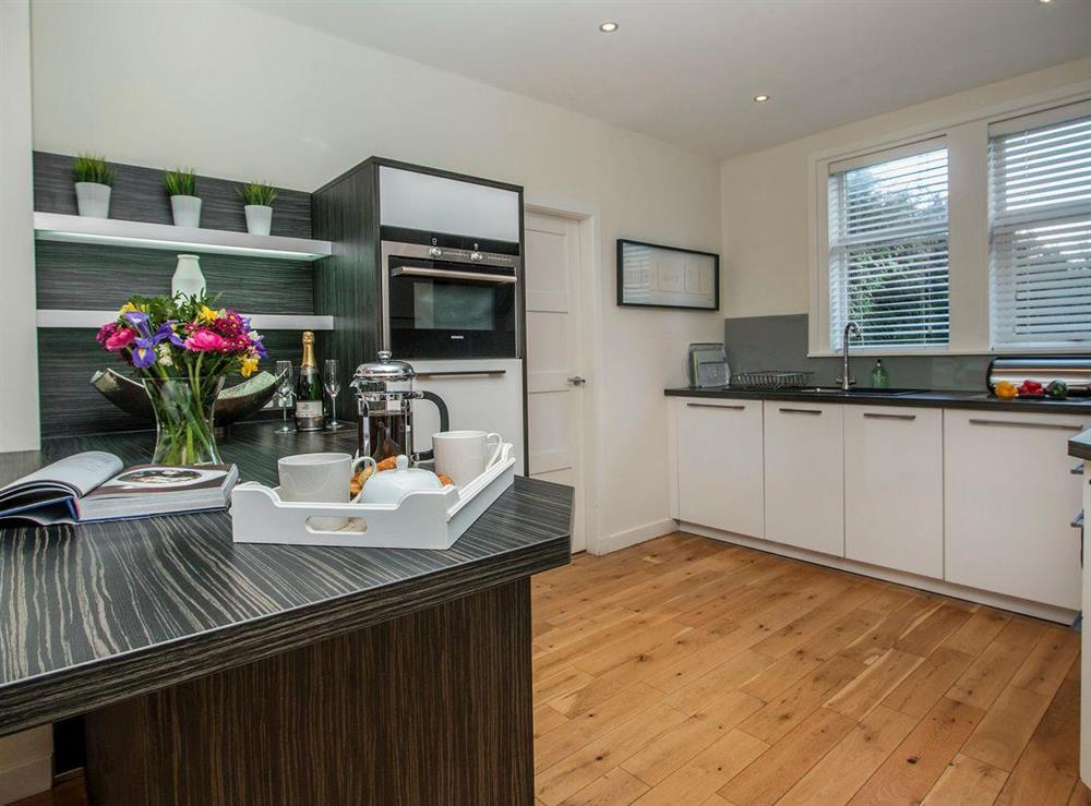 Contemporary kitchen at Wellpark in Alloway, near Ayr, Ayrshire