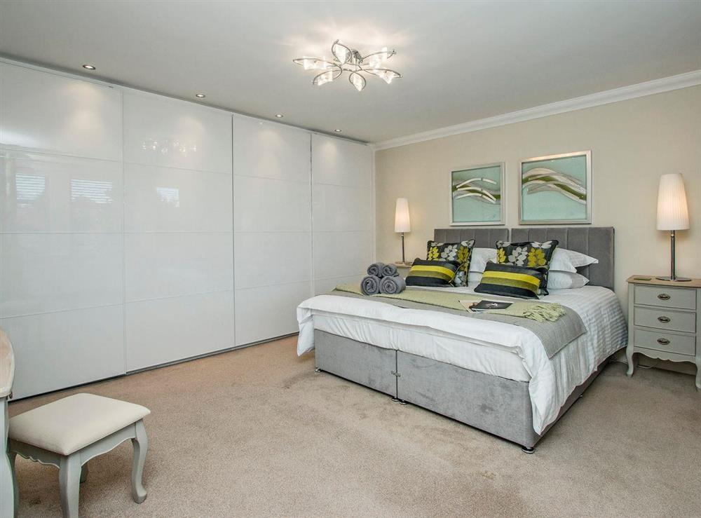 Elegantly decorated double bedroom at Wellpark in Alloway, near Ayr, Ayrshire
