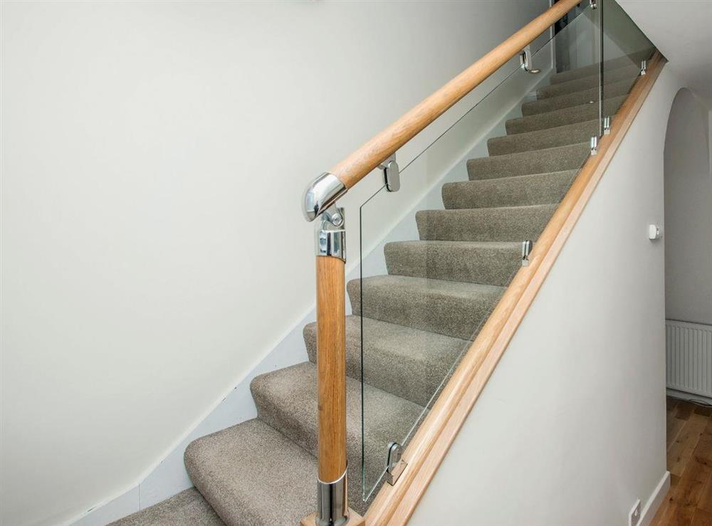 Stairs to first floor at Wellpark in Alloway, near Ayr, Ayrshire
