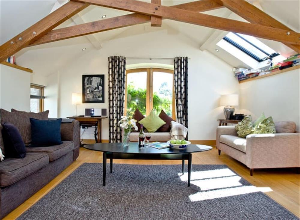Living area at Wells Park Barn in Dartmouth & Kingswear, South Devon