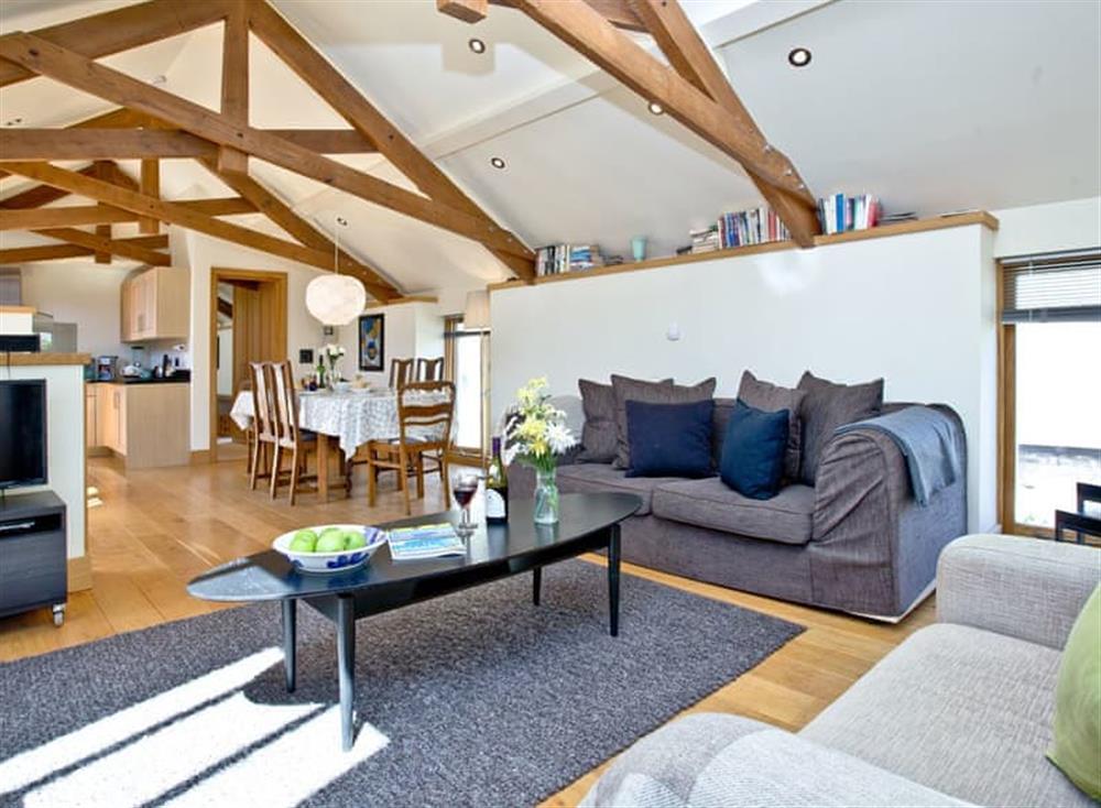 Open plan living space (photo 3) at Wells Park Barn in Dartmouth & Kingswear, South Devon
