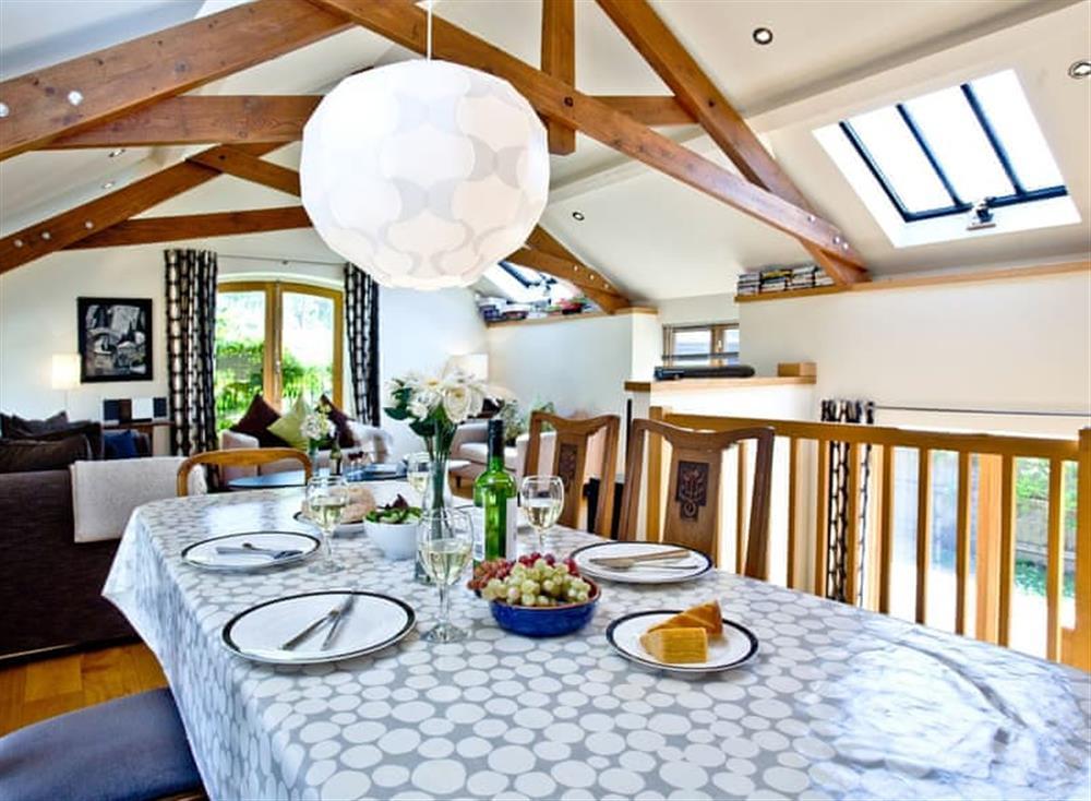 Open plan living space at Wells Park Barn in Dartmouth & Kingswear, South Devon