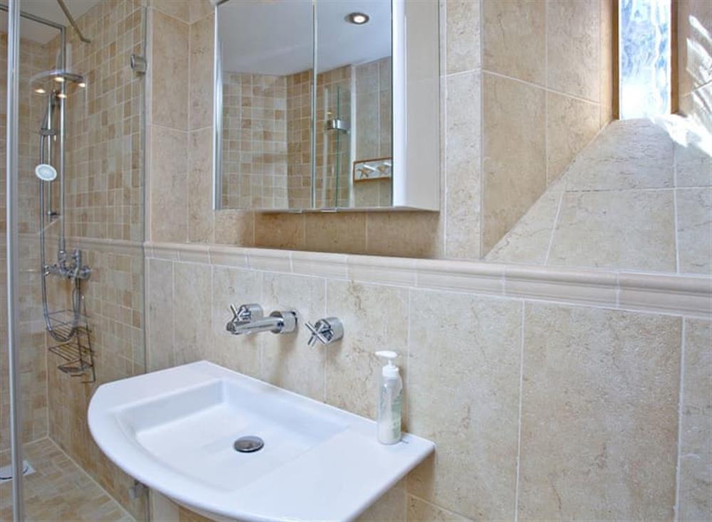 Shower room at Wells Park Barn in Dartmouth & Kingswear, South Devon