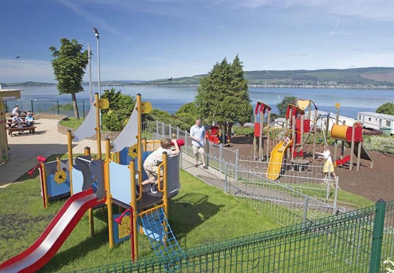 Children's play area at Wemyss Bay in Renfrewshire, Western Scotland, South West Scotland