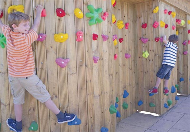 Climbing wall at Wemyss Bay in Renfrewshire, Western Scotland, South West Scotland