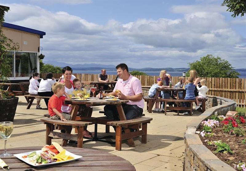 Outdoor dining at Wemyss Bay in Renfrewshire, Western Scotland, South West Scotland