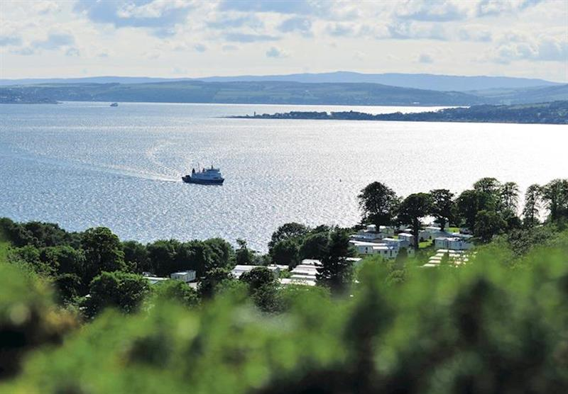 Views from the park at Wemyss Bay in Renfrewshire, Western Scotland, South West Scotland
