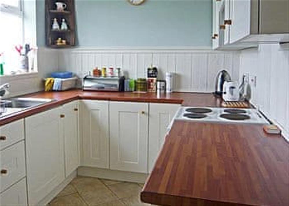 Kitchen at West Cottage in Lessingham, Norwich, Norfolk., Great Britain