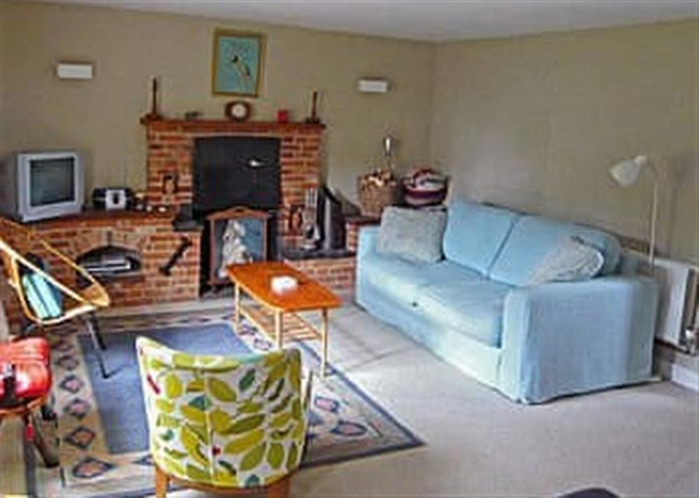 Living room at West Cottage in Lessingham, Norwich, Norfolk., Great Britain