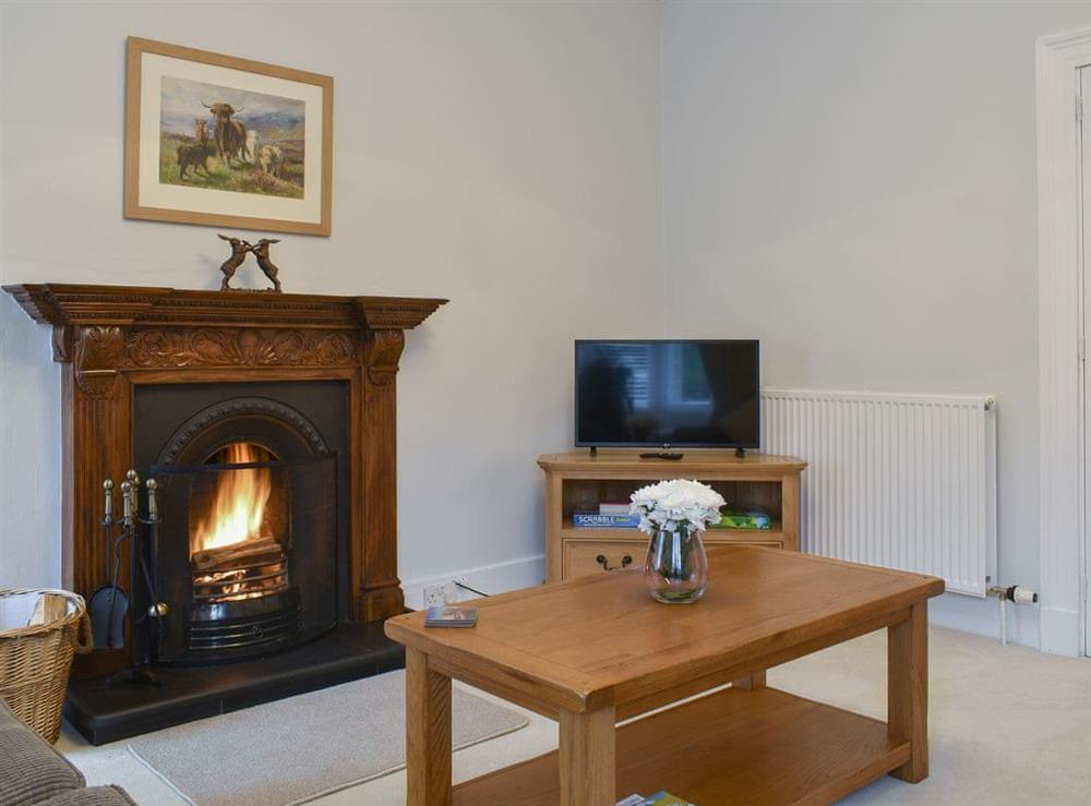 Welcoming living room at West Lodge in Banchory, Kincardineshire