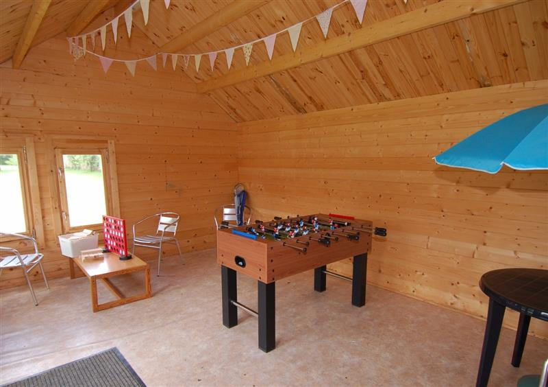 Games room at West Vane, Ugborough, Devon