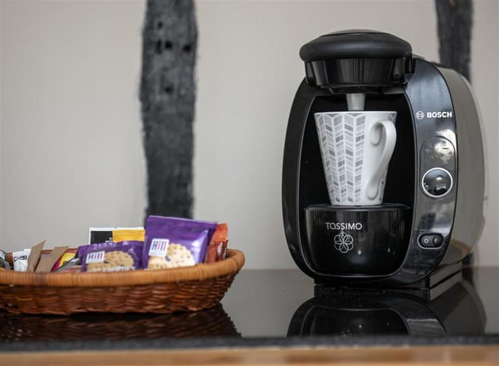 Coffee maker at West View in Dickleburgh, near Diss, Norfolk