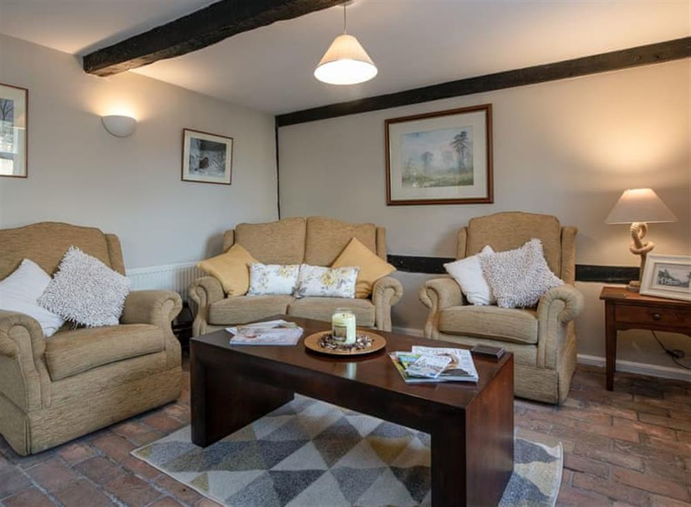 Cosy living room at West View in Dickleburgh, near Diss, Norfolk