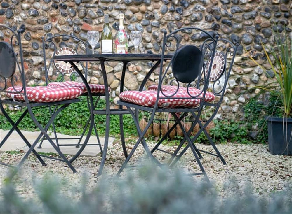 Sitting out area at West View in Dickleburgh, near Diss, Norfolk