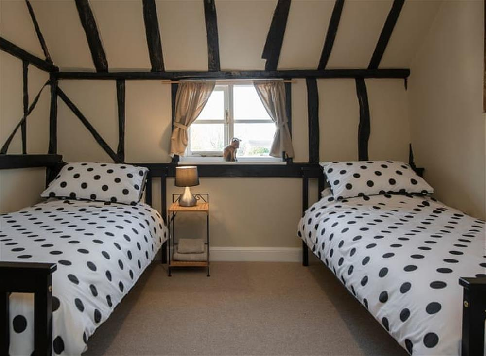 Twin bedroom at West View in Dickleburgh, near Diss, Norfolk