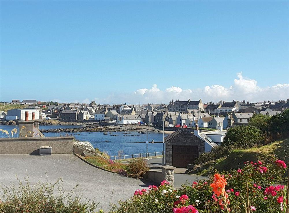 Harbour view from front of house at Westcliff in Whitehills, near Banff, Aberdeenshire