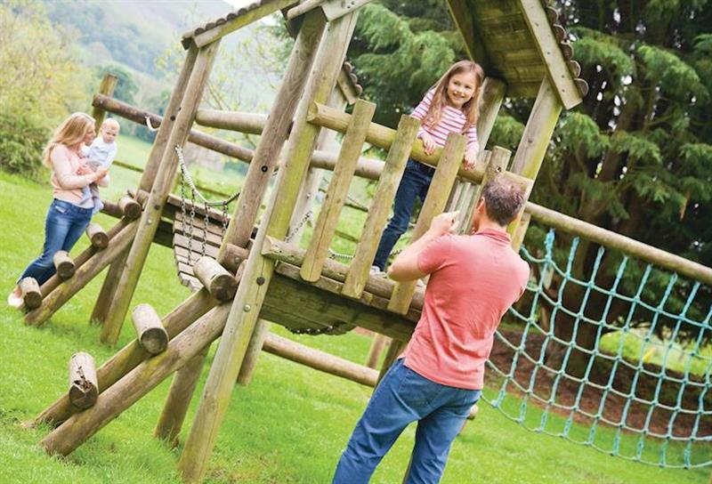 Children's play area at Westholme Lodges in Yorkshire, North of England