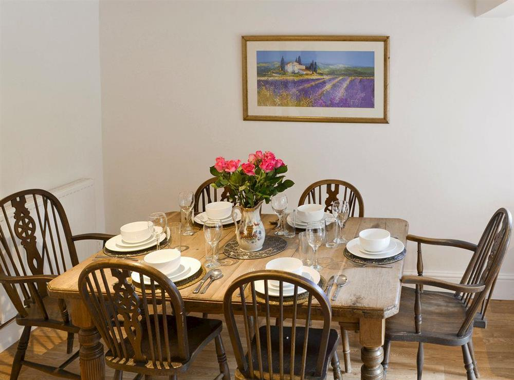 Spacious dining room at Mad Nelly Cottage,