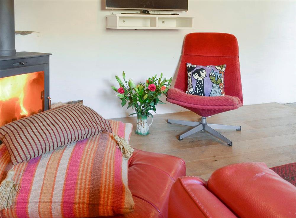 Stylish living room at Mad Nelly Cottage,