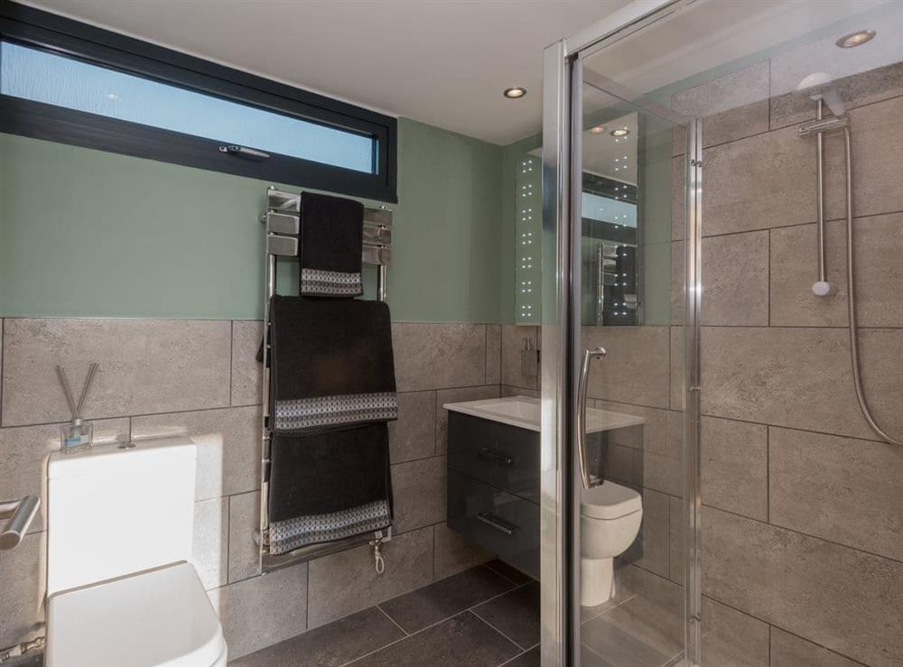 Shower room at Whispering Reeds in Horning, near Wroxham, Norfolk