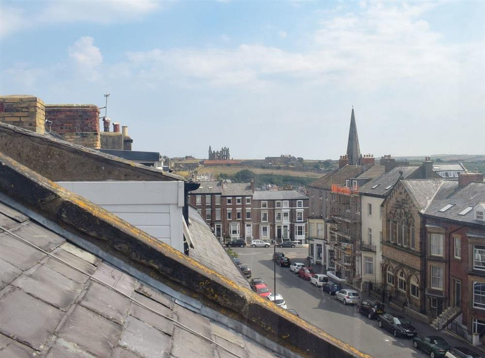 Wonderful views over Whitby from the upper floor at Hidden Treasure,