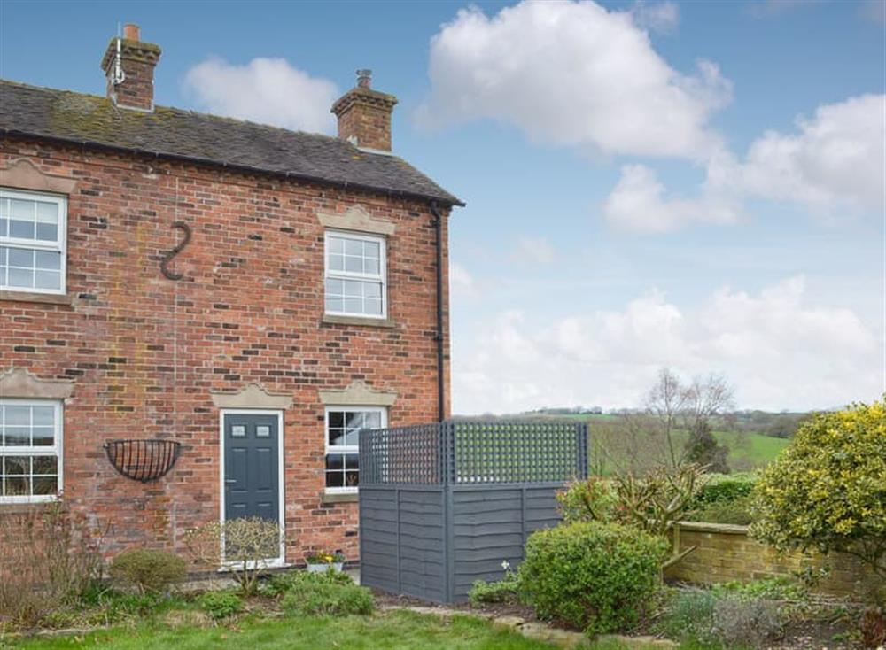 Semi-detached cottage at Whympney Cottage in Dilhorne, Stoke-on-Trent, Staffordshire