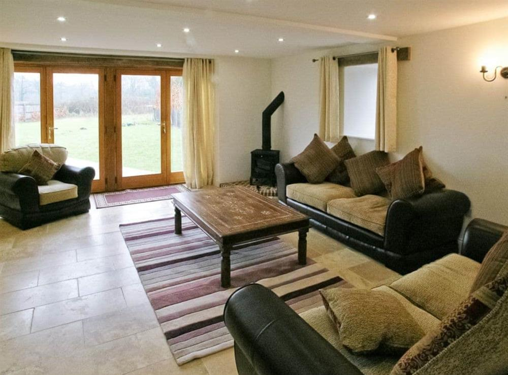 Living room at Willow Barn in Neatishead, Norwich, Norfolk., Great Britain