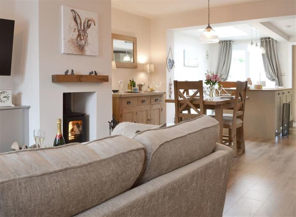 Stylish open-plan living space at Willow Cottage in Beverley, North Humberside