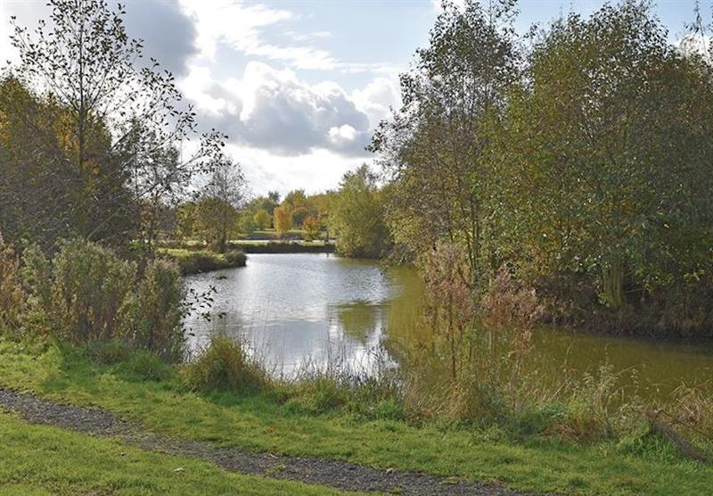 The lake at Wold View Lodges in Claxby, Nr Market Rasen