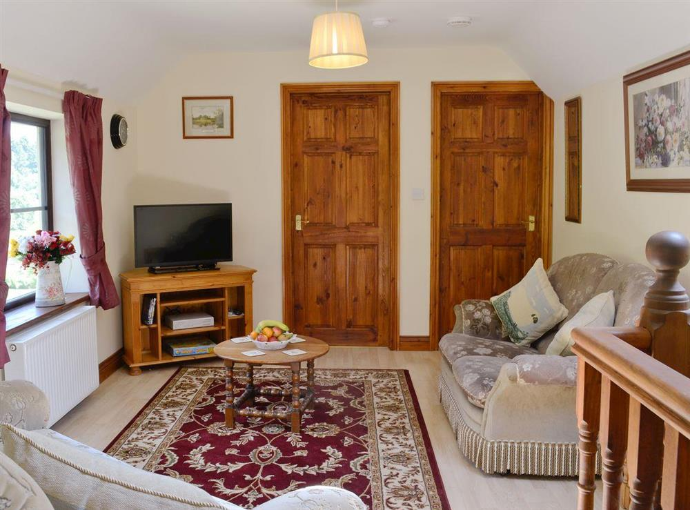 Cosy living room at Wonder Box Cottage in Popes Hill, nr Newnham-on-Severn, Gloucestershire