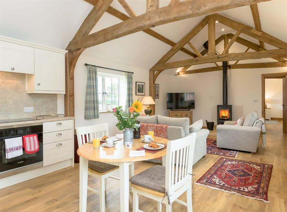Luxurious converted barn with an open plan living space at The Old Dairy,