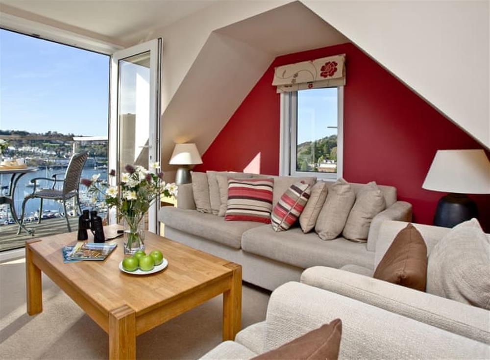 Living area at Woodbine House in Dartmouth & Kingswear, South Devon