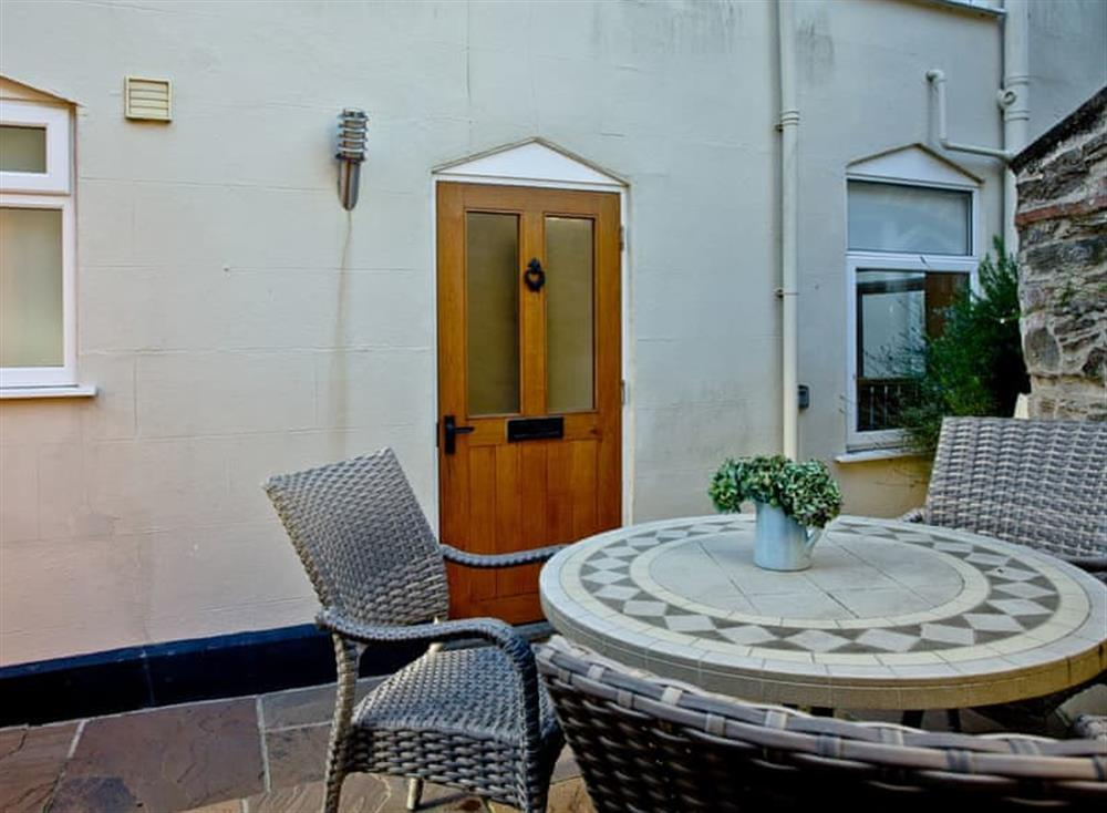 Patio at Woodbine House in Dartmouth & Kingswear, South Devon