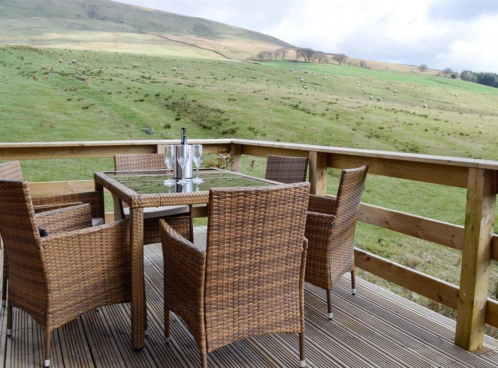 Seating area with stunning views over open countryside at The Spey,